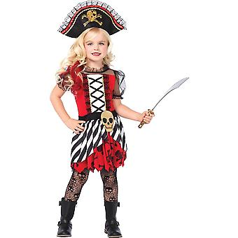 Schöne Mädchen-Piraten-Kostüm