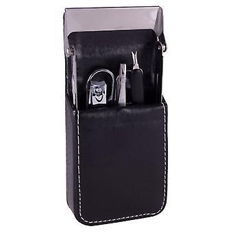 Artamis 5 Piece Men's Manicure Set - Black Case
