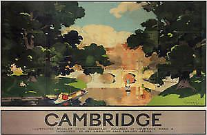 Cambridge (bridge lscape) (old rail ad.) fridge magnet