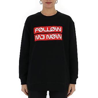 Red Valentino Black Cotton Sweatshirt