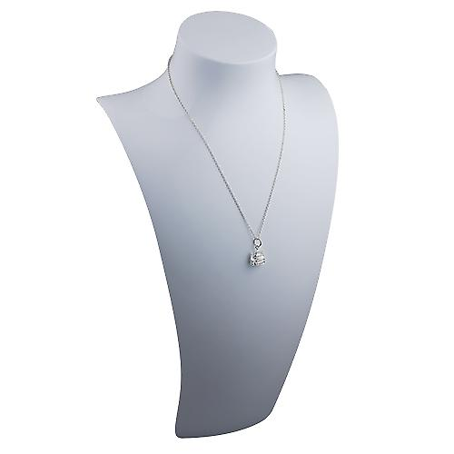 Silver 11x10mm solid St. Paul's Cathedral Pendant with a rolo Chain 14 inches Only Suitable for Children