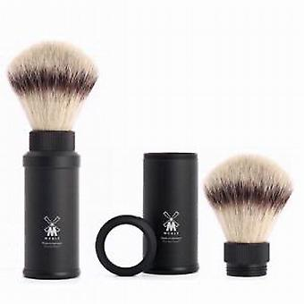 Muhle Synthetic Hair Travel Shaving Brush in Black Handle
