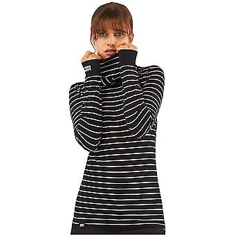 Mons Royale Thin Stripe Cornice Rollover Womens Long Sleeved Baselayer Top