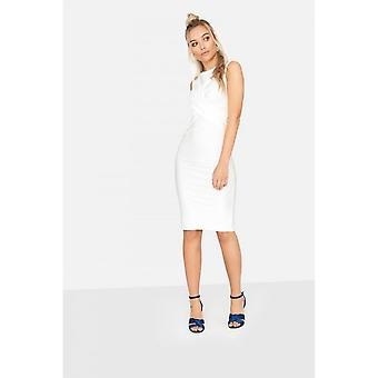 Girls On Film Womens/Ladies Ester Crossover Ribbed Waist Dress
