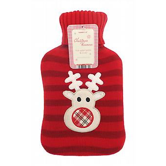 Festive Fun Rudolph Knitted Cover 2L Hot Water Bottle