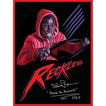 Signed Reggie The Reckless Poster Friday The 13th Part 5 Art Print (18x24)