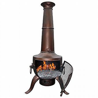 Gardeco Tia Steel and Cast Chiminea with Grill