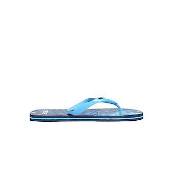 D555 Navy Water Print Flip Flops