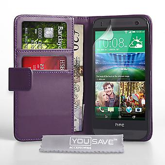 YouSave Accessories HTC One Mini 2 LeatherEffect Wallet Case Purple
