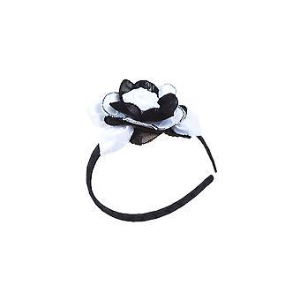 Schwarz / weiß Blumenmädchen Stirnband