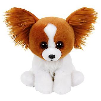 TY Classic Barks Brown Dog With Glitter Eyes dog stuffed animal Plush soft 24cm