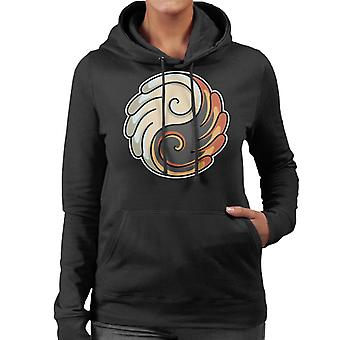 Yin Yang Wings Women's Hooded Sweatshirt