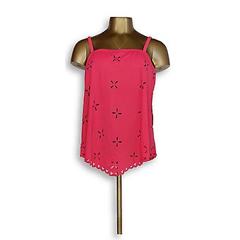 Fit 4 U Handkerchief Laser Cut Tankini Top with Pink A291317