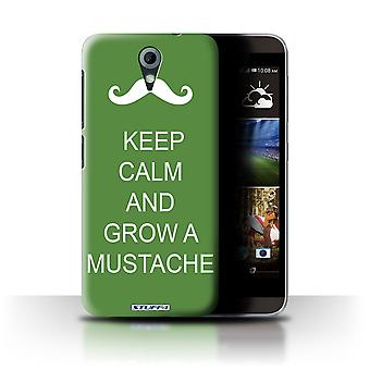 STUFF4 Case/Cover for HTC Desire 820 Mini/Grow a Mustache/Green/Keep Calm