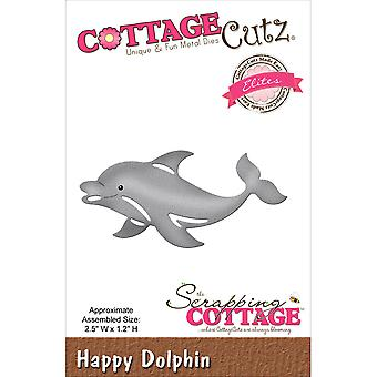 CottageCutz Elites Die -Happy Dolphin 2.5