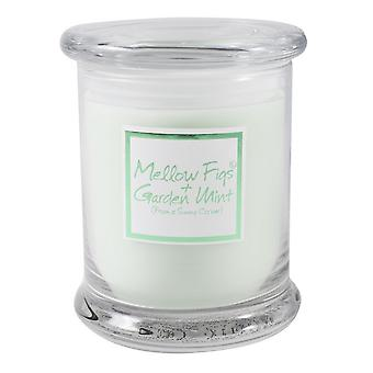 Lily Flame Scented Candle in Decorative Jar - Mellow Figs and Garden Mint