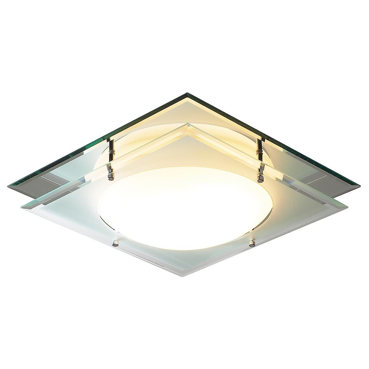 Dar MAN472 Mantra Mirrored Bathroom Flush Ceiling Light