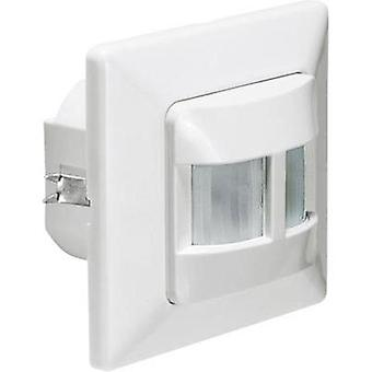 Flush mount, Wall PIR motion detector GEV 018419 180 ° Relay White IP20