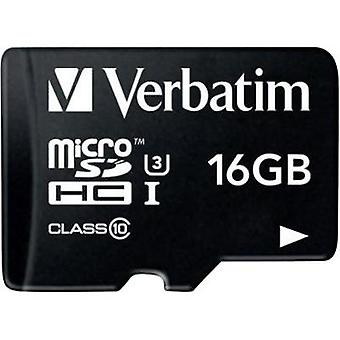 microSDHC card 16 GB Verbatim PRO Class 10, UHS-I, UHS-Class 3 incl. SD adapter