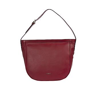 Trussardi Woman's shoulder bag 100% genuine leather Calf-34x32x12 buck and Smooth Cm
