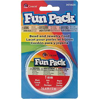 Fun Pack Stretch snoer Spool 1 mm 16,4' / Pkg-zwarte 34734234