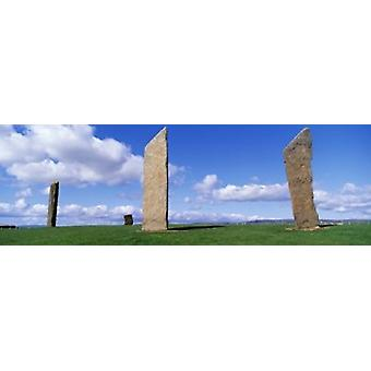 Stones Of Stenness Orkney Islands Scotland United Kingdom Poster Print