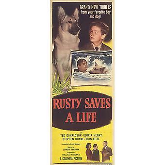 Rusty slaat een filmposter van leven (11 x 17)