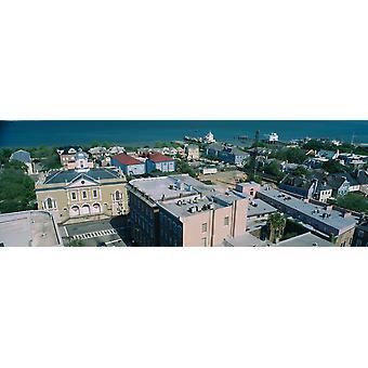 Hög vinkel syn på en staden Charleston South Carolina USA affisch Skriv