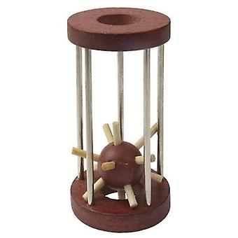 Wood toy skill learning toys kids ball cage prison break