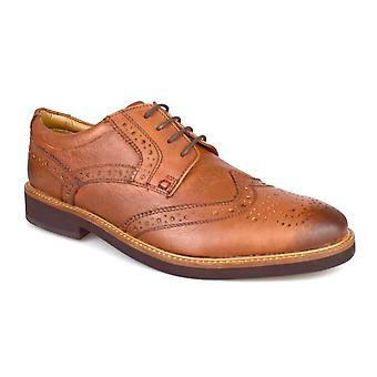 Silver Street London Berkley Mens Tan Leather Formal Brogues