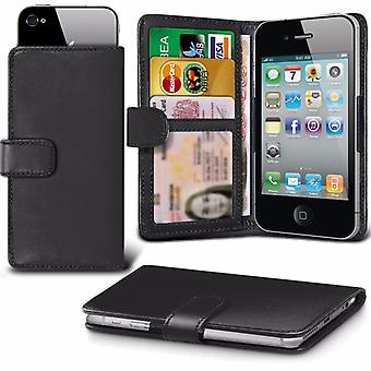 iTronixs - LG Spirit 4G LTE (4.7 inch) Case Clamp Style Wallet Protective PU Leather Case Cover - Black