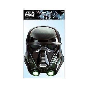 Death Trooper Official Star Wars Rogue One Card Party Face Mask