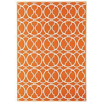 Moderne levende Orange espalier køkken tæppe - Floorit