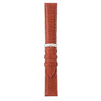 Morellato Strap Only - Ibiza Lizard Calf Brown/red 12mm A01X3266773041CR12 Watch