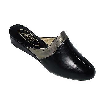 Cincasa Menorca Signature Ladies Classic Slippers Textile Leather Slip On Shoes