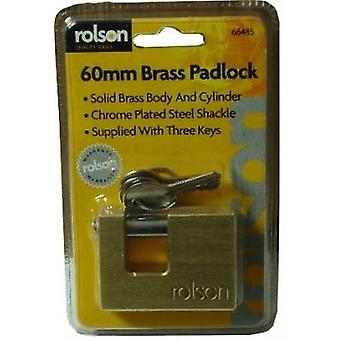 60mm Square Brass Padlock D/B