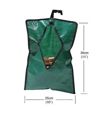 Laundry Peg Bag Waterproof Green with Hanger