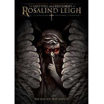 The Last Will and Testament of Rosalind Leigh [DVD] USA import