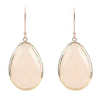 Rosegold Single Drop Earring Rozenkwarts