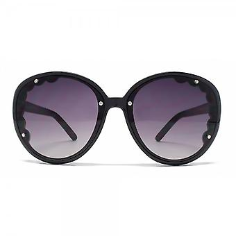 Chloe New Erine Scalloped Lens Detail Sunglasses In Black