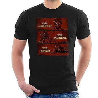 Den inficerede gå og den bidende døde mænd T-Shirt