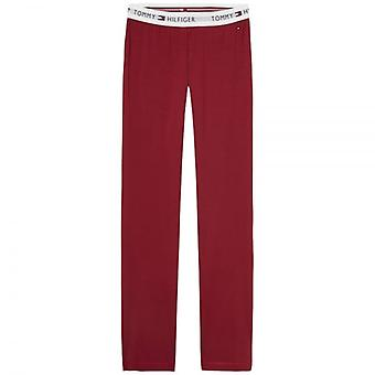 Tommy Hilfiger Women Iconic Cotton PJ Lounge Pant, Rhubarb Red, XS