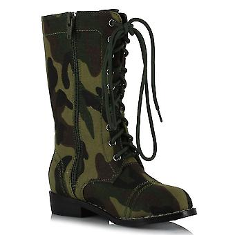 Ellie Shoes E-101-Bootcamp 1 Heel Camo Ankle Boot Children