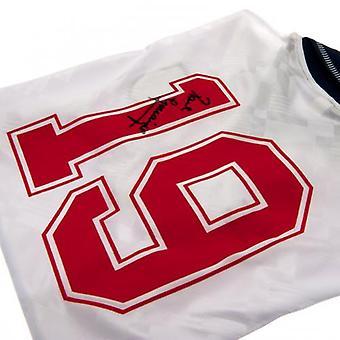 Anglia FA Gascoigne podpisane koszula