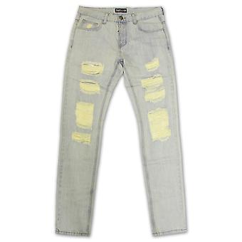 Embellish Aventador Ripped Standard Denim Jeans Light Blue