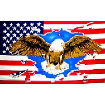 USA American 'Eagle' Flag 5ft x 3ft With Eyelets