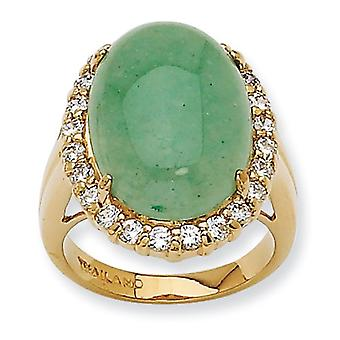 Opaque Aventurine Ring - Ring Size: 5 to 9