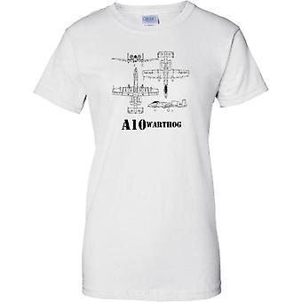 A-10 Warthog esquema - Tankbuster - señoras T Shirt