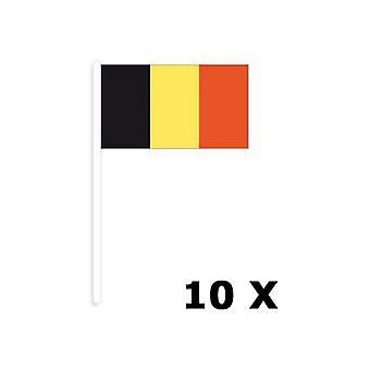 Part gynnar belgiska flaggor 10 bitar