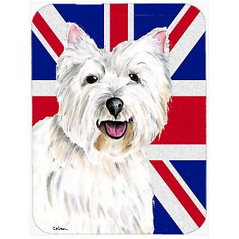 Westie with English Union Jack British Flag Mouse Pad, Hot Pad or Trivet